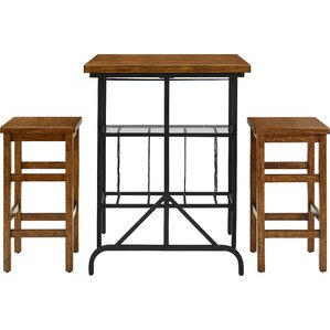 Ordway 3 Piece Dining Set by Loon Peak