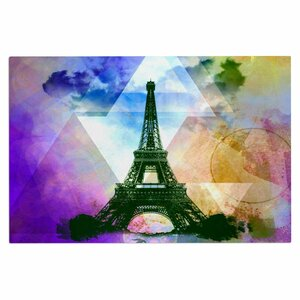 AlyZen Moonshadow Eiffel Tower Travel Doormat