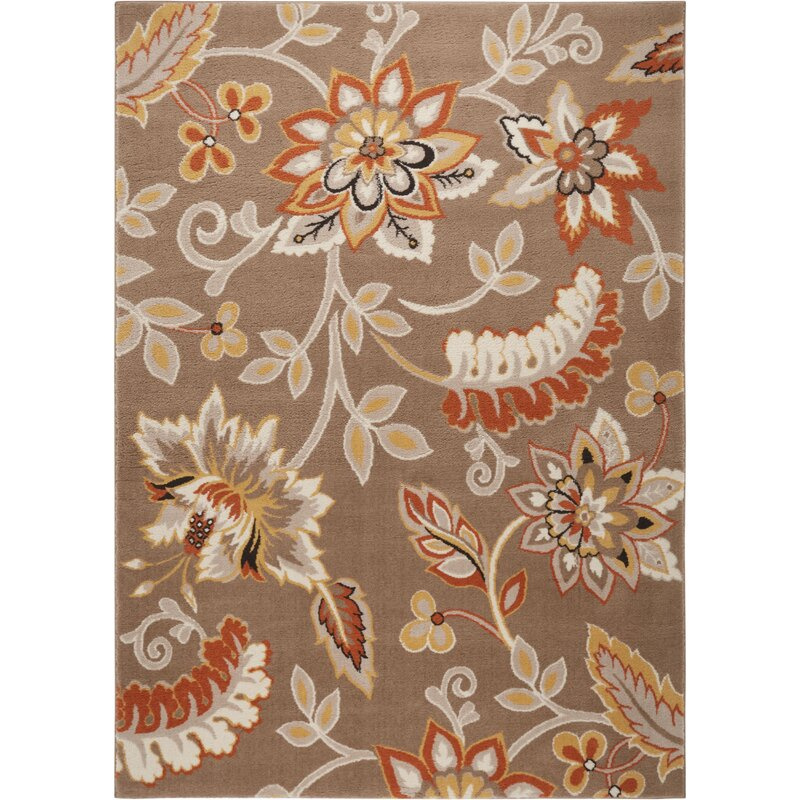 Selina Hand Tufted Brown Area Rug