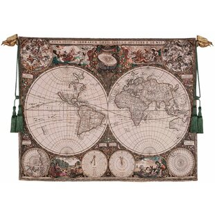 Wall tapestry with rod wayfair world map wall tapestry gumiabroncs Gallery