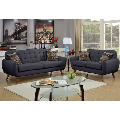 wooten 2 piece sofa and loveseat set apartment size sofa