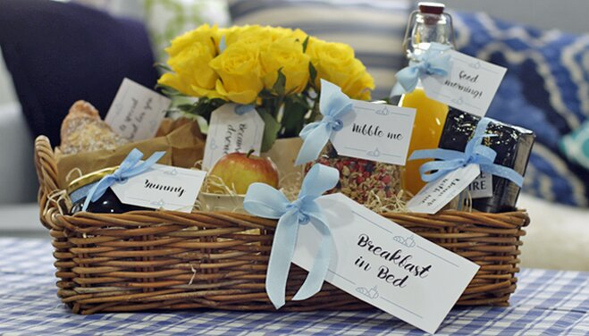 Diy hampers breakfast in bed gift tags wayfair decorate your diy hamper with our gift tags to add a personal touch to your present solutioingenieria Image collections