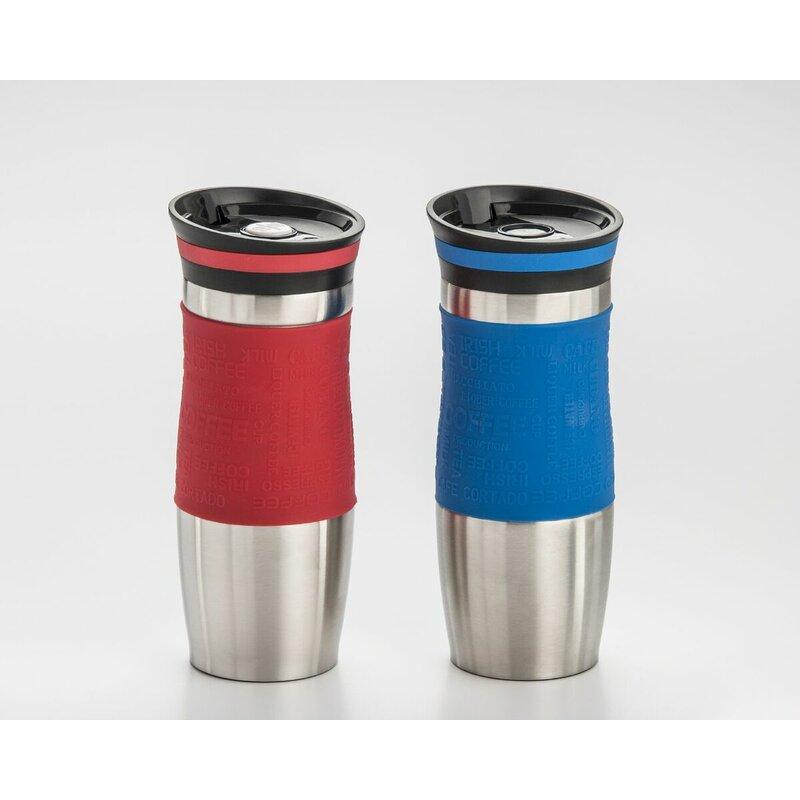 cook pro coffee tumbler stainless steel travel mug wayfair