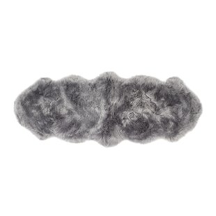 Pauletta Quad Sheepskin Grey Rug by Longweave