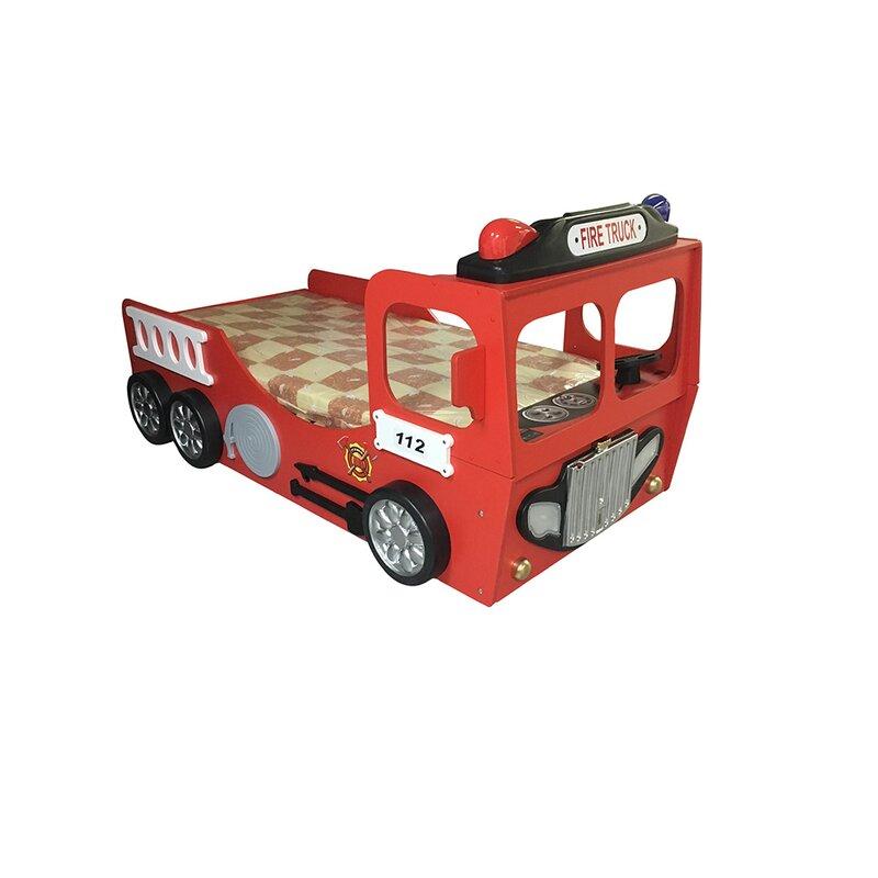 Plastiko Fire Truck Toddler Car Bed | Wayfair