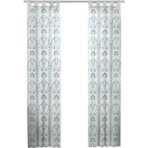 Kuhlmann Damask Room Darkening Rod Pocket Curtain Panels