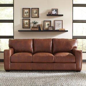 Pratt Leather Sofa by Birch Lane?