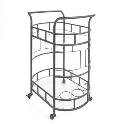 Red Barrel Studio Boswell 2-Tier Bar Cart Frame Color: Hammered Bronze