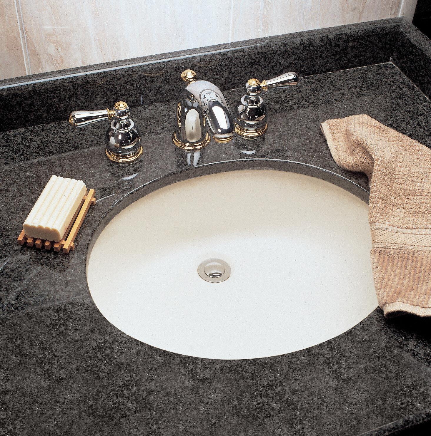 Superbe Ovalyn Ceramic Oval Undermount Bathroom Sink With Overflow