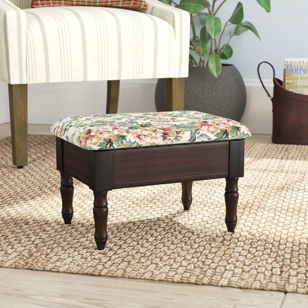 Capable Antique Tapestry Footstool White Rose Design Dependable Performance Oak Base