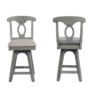 Vergara Napoleon Counter 24 Swivel Bar Stool (Set of 2)