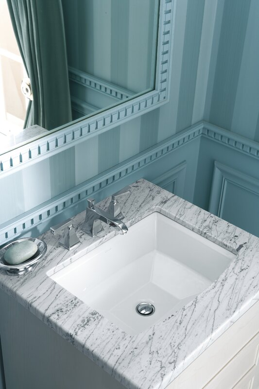 Archer Ceramic Rectangular Undermount Bathroom Sink with Overflow ...