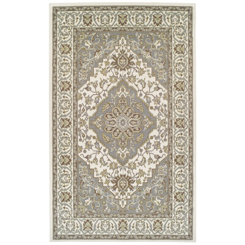 Var Olive Green Gray Area Rug