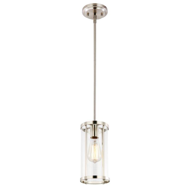 Ebern designs everhart 1 light cylinder pendant light reviews everhart 1 light cylinder pendant light aloadofball Images