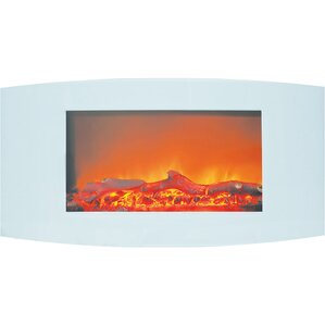 Bevers Wall Mount Electric Metal Fireplace by Ebern Designs