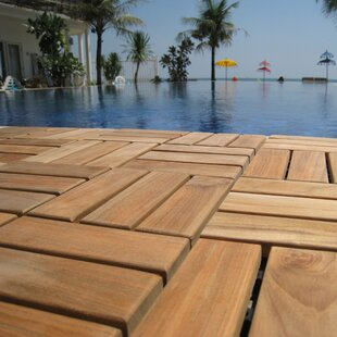 Ez Floor 12 X Wood Interlocking Deck Tile In Natural