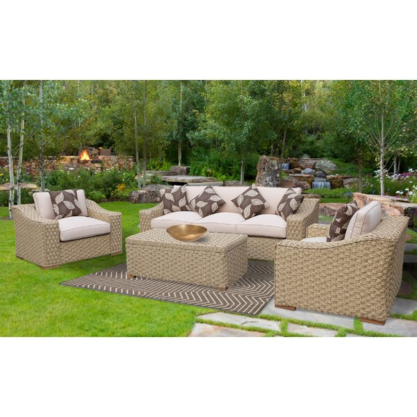 Dutil 4 Piece Rattan Sofa Set With Cushions Reviews Birch Lane