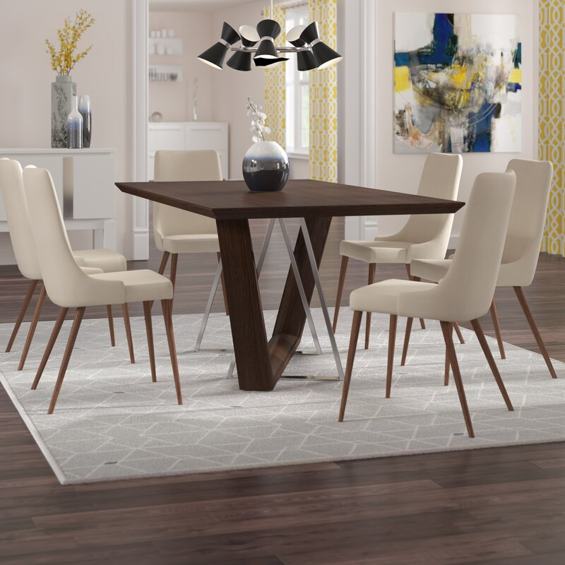 Ordinaire Bruck Contemporary 7 Piece Dining Set