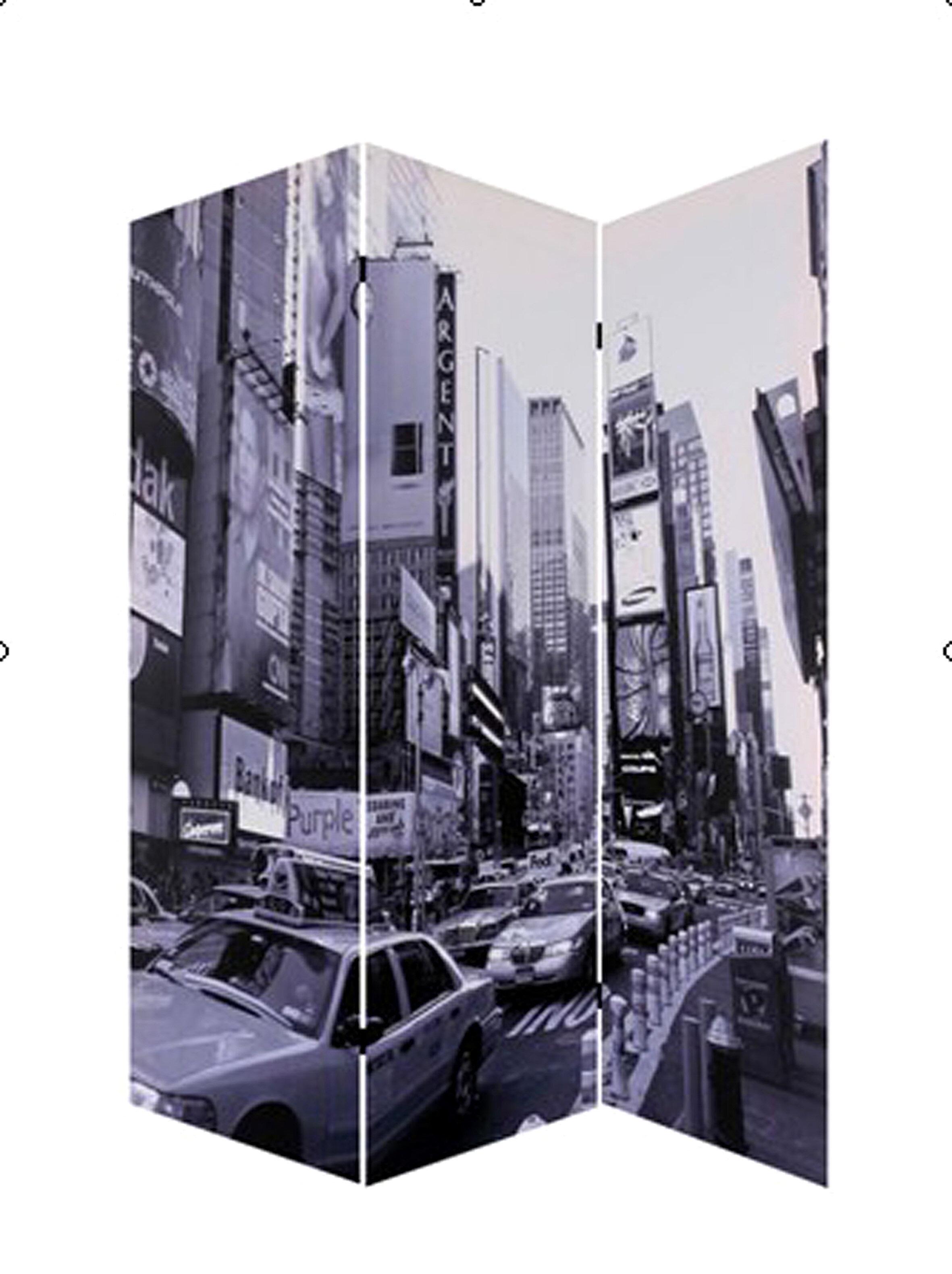 Screen Gems New York City 3 Panel Room Divider Wayfair