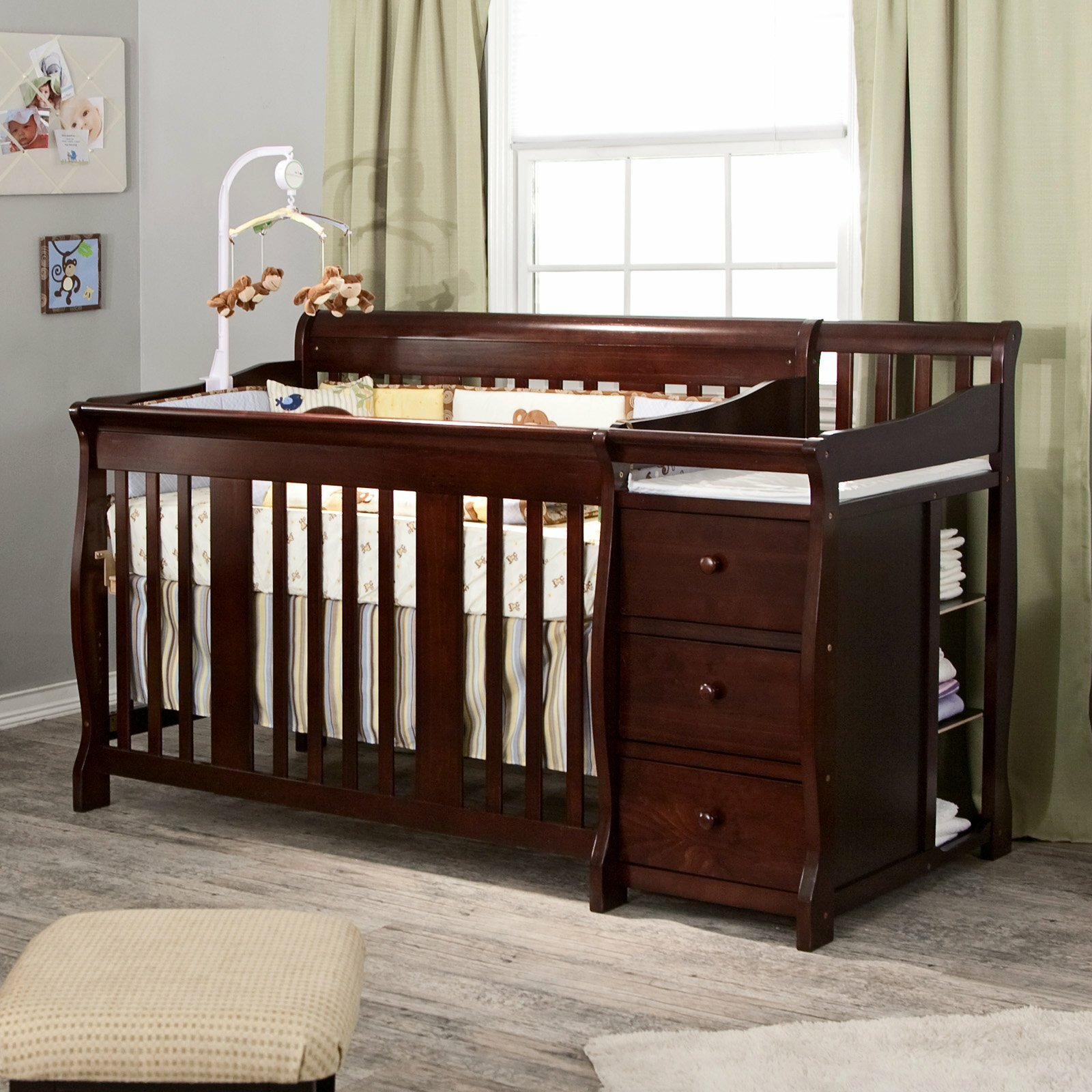 together baby combo sweet at alluring combobaby s table attached along crib cheerful cribs changing dresser and with uncommon convertible for