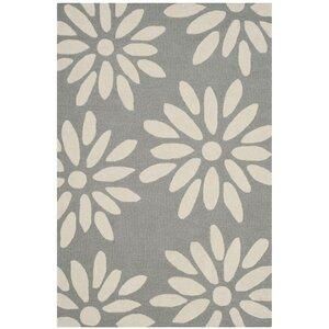 Claro Daisy Hand-Tufted Gray/Ivory Area Rug
