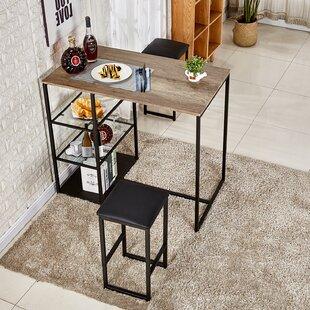 Ligon 3 Piece Breakfast Nook Dining Set