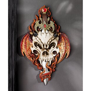 Skull and Sword Gothic Wall Décor
