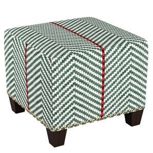 August Grove Pocomoke Nail Button Ottoman