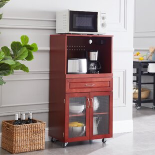 Cornette Cabinet Microwave Bar Cart