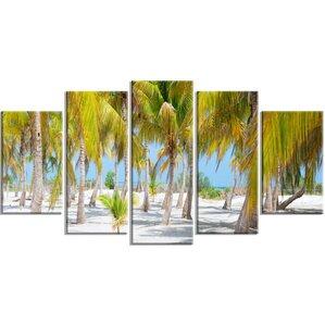 U0027Palm Treesu0027 5 Piece Wall Art On Wrapped Canvas Set. U0027 Part 66