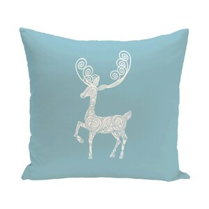 Deer Crossing Decorative Holiday Holiday Print Throw Pillow
