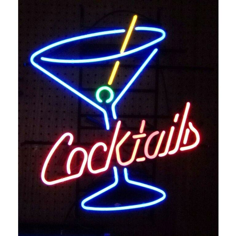 neon signs sign martini glass cocktails business bar light sale neonetics cocktail lamp make wine decoratives indoor foter magnifying usa