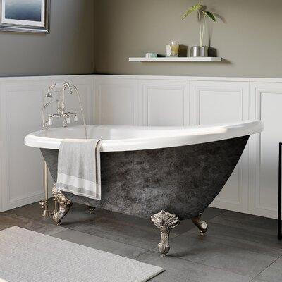 "Acrylic Slipper 67"" X 28"" Clawfoot Soaking Bathtub Cambridge Plumbing Feet Finish: Brushed Nickel"