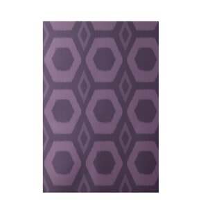 Geometric Purple Indoor/Outdoor Area Rug