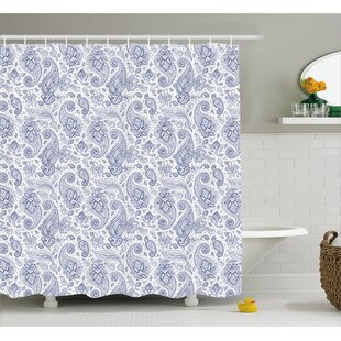Quarryville Abstract Buds And Dots Single Shower Curtain