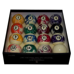 Marbelized Pool Ball Set