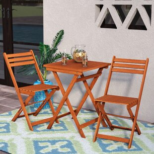 outdoor dining table and chairs teak altenwald eucalyptus piece folding dining set patio sets youll love wayfair