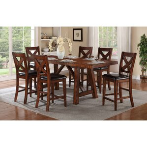 Corvallis 7 Piece Dining Set by Loon Peak