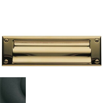 Baldwin 10 in x 3 Brass Mail Slot Color: Satin Black