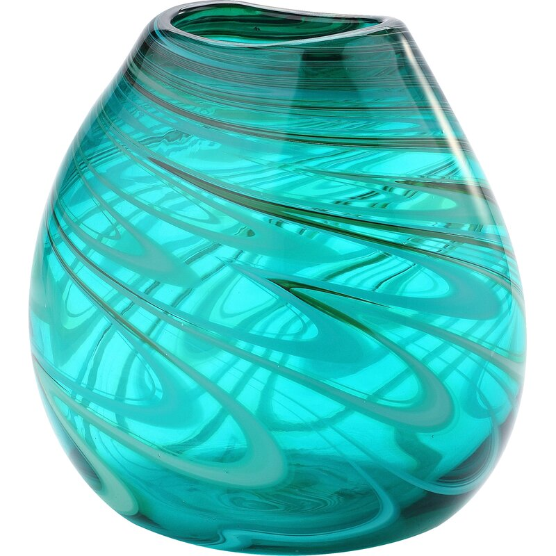 Mercury Row Turquoise Glass Table Vase Reviews Wayfair