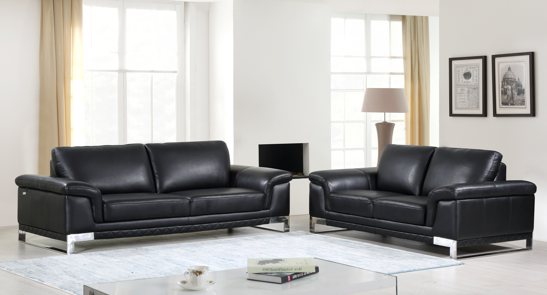 Orren Ellis Lara Luxury Italian Leather 2 Piece Living Room Set Wayfair