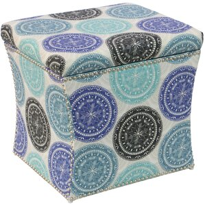 Latitude Run Latoya Pen Medallion Storage Ottoman