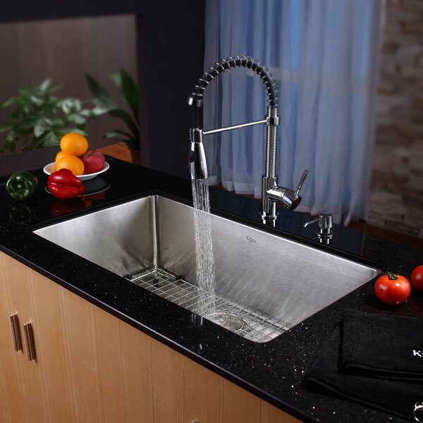 Kraus 32 Quot X 19 Quot Undermount Kitchen Sink With Faucet And