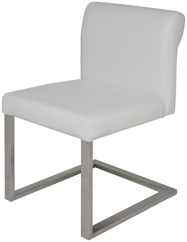 Bruno Genuine Leather Upholstered Dining Chair