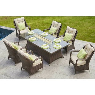 Lerner 7 Piece Dining Set With Cushions