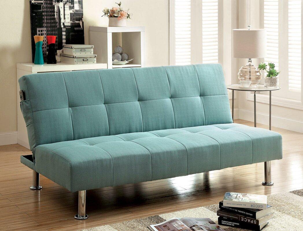 Tufted Futon Sleeper Sofa