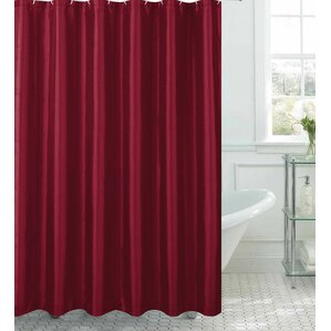 Samar Faux Silk Shower Curtain Set Burgundy Sets  Wayfair
