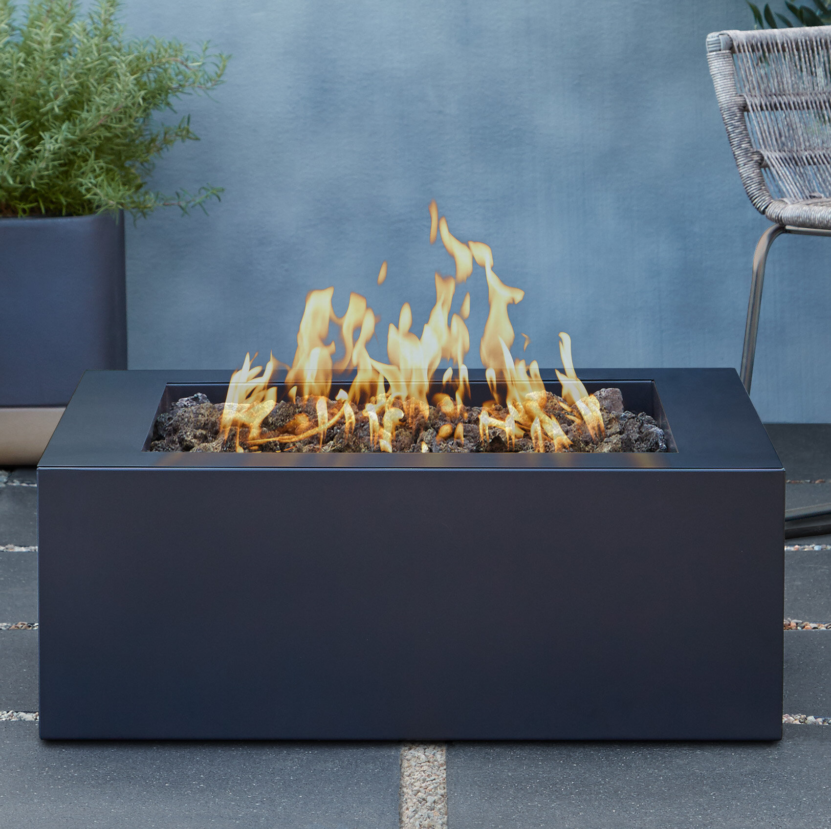 Real Flame Bryon Steel Propane Fire Pit Table | Wayfair