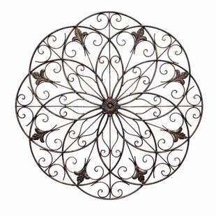 Wrought Iron Floral Wall Décor