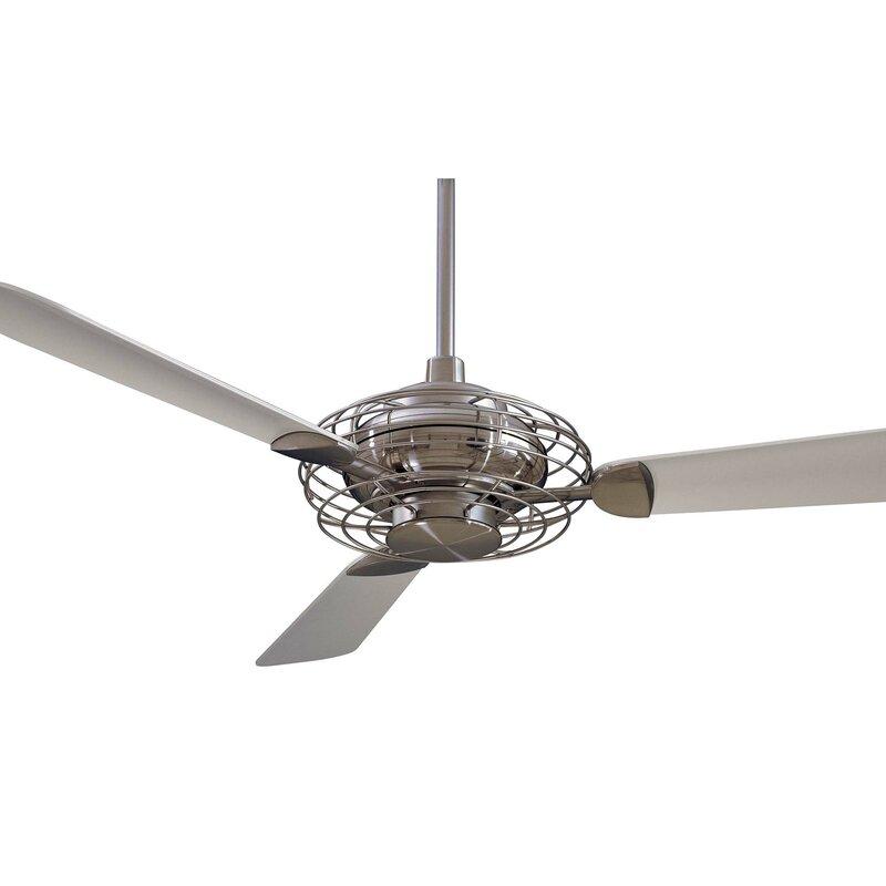 Minka aire 52 acero retro 3 blade led ceiling fan reviews wayfair 52 acero retro 3 blade led ceiling fan aloadofball Images